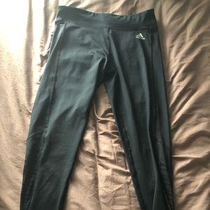 black long climalite adidas leggings; size M
